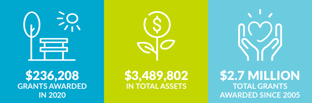 $236,208 grants awarded in 2020. $3,489,802 total assets. $2.7 million total grants awarded since 2005.