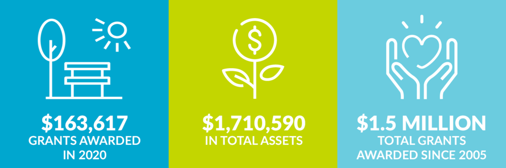 $163,617 grants awarded in 2020. $1,710,590 total assets. $1.5 million total grants awarded since 2005.