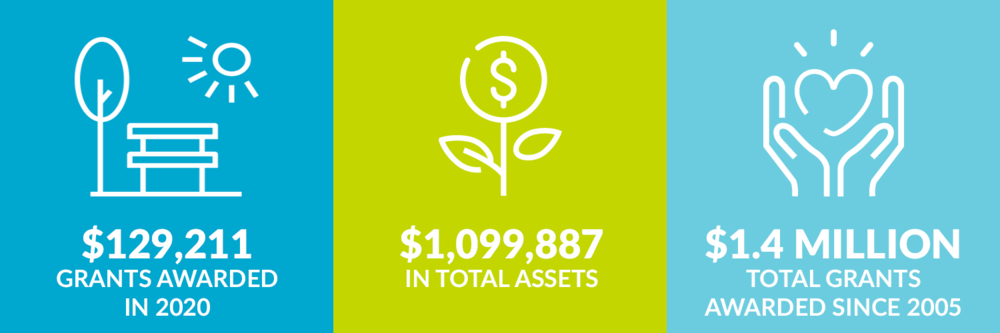 $129,211 grants awarded in 2020. $1,099,887 total assets. $1.4 million total grants awarded since 2005.