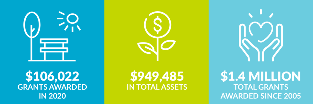 $106,022 grants awarded in 2020. $949,485 total assets. $1.4 million total grants awarded since 2005.