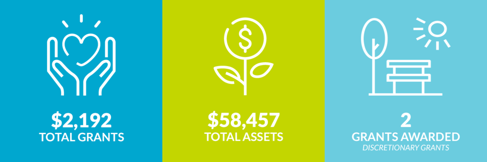 $2,192 total grants. $58,457 total assets. 2 discretionary grants awarded.