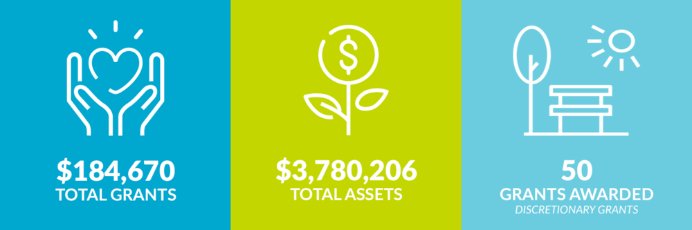 $184,670 total grants. $3,780,206 total assets. 50 discretionary grants awarded.