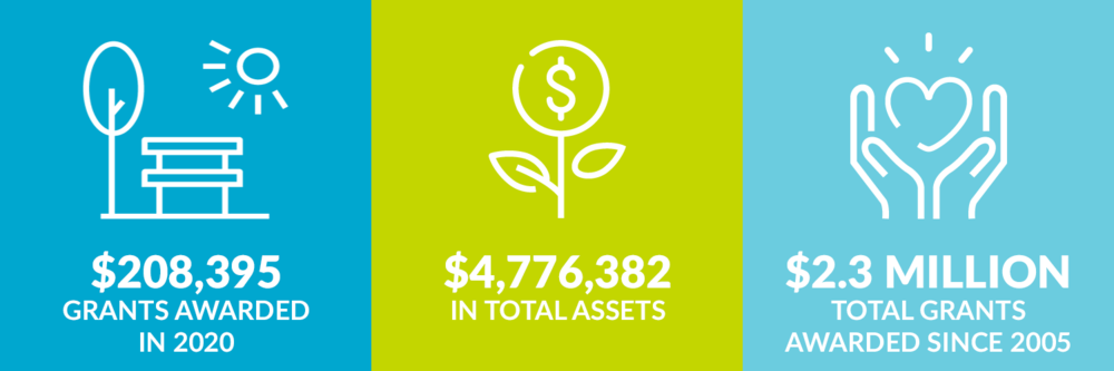 $208,395 grants awarded in 2020. $4,776,382 total assets. $2.3 million total grants awarded since 2005.