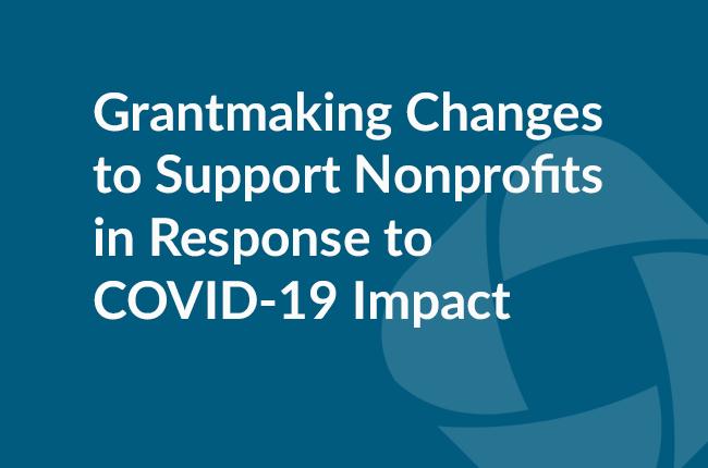 Grantmaking response graphic