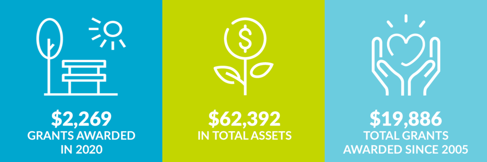 $2,269 grants awarded in 2020. $62,392 total assets. $19,886 total grants awarded since 2005.